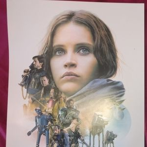 Limited edition Star Wars Rogue One poster